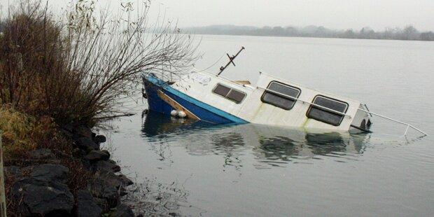 8-Tonnen-Stahlschiff in Donau gesunken