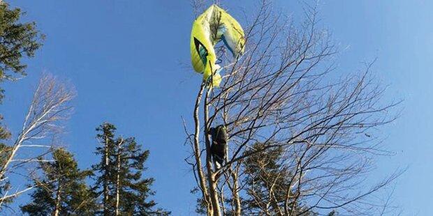 Helfer retteten drei Paragleiter-Piloten