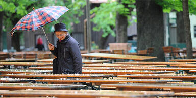 Regenschirm Gastgarten