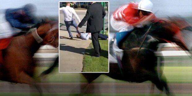 Schock: Gewalt-Exzess bei Pferderennen