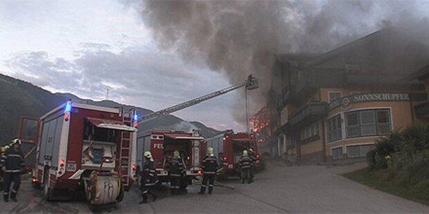 Schladming: Großbrand verwüstet Hotel
