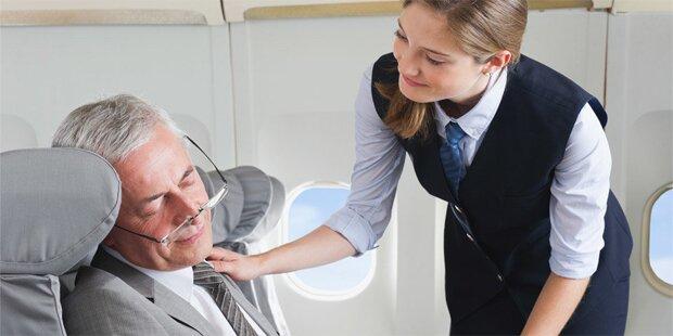 Deshalb sollten Sie niemals im Flugzeug schlafen