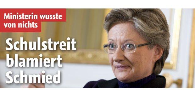 Ministerin Schmied droht mit Rücktritt