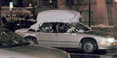 Schneehaube am Dach kostet Versicherungs-Schutz