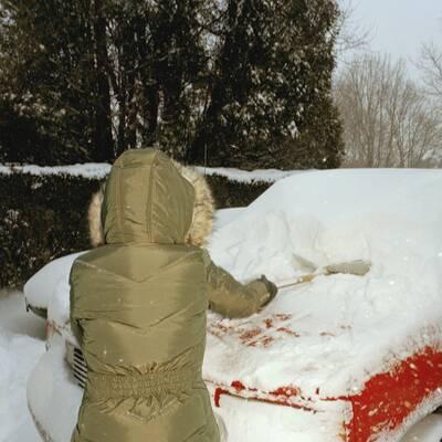 Kalorienverbrauch bei Schneeschaufeln