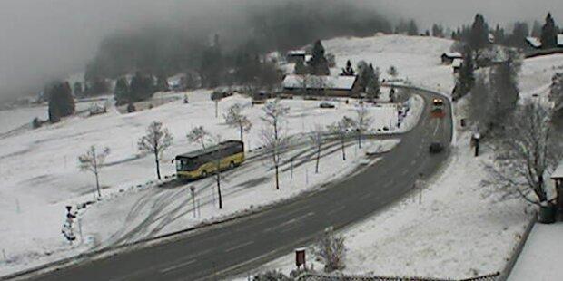 Schnee-Crash: Bus stürzt ab