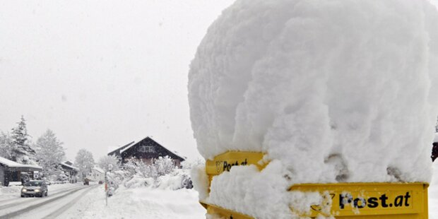 Viel Neuschnee in den Bergen erwartet