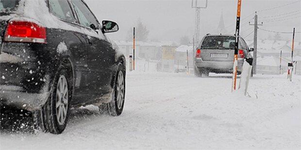 Winterchaos: Sperren und Unfälle
