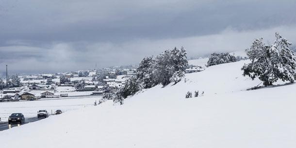 Schnee im Westen
