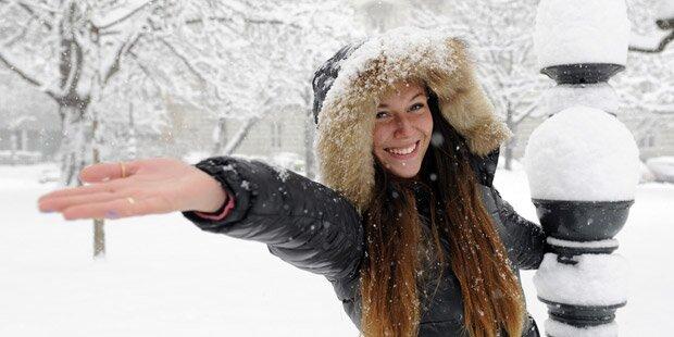 Zu Neujahr kommt der Schnee