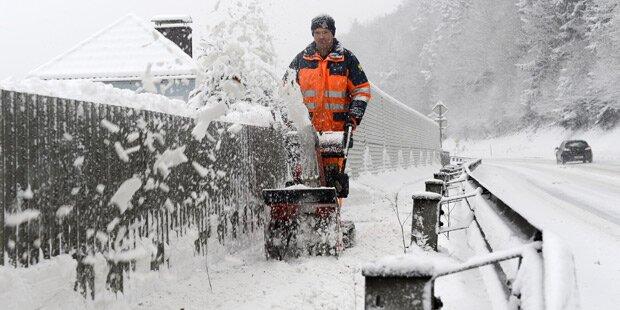 Italien-Tief bringt Neuschnee