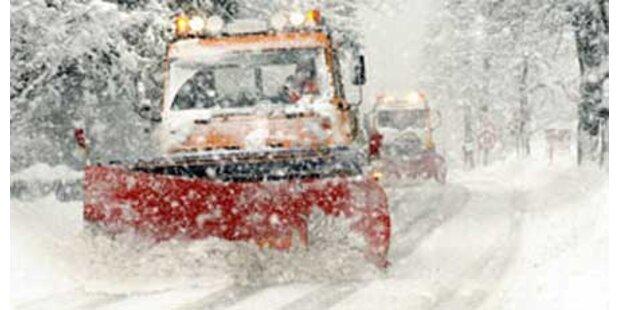 Schneesturm fegte über Wien hinweg