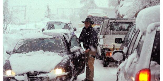 Verkehrs-Kollaps nach Rekord-Kälte