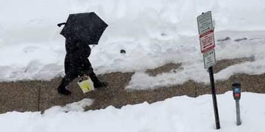 USA zittern vor neuem Schneesturm