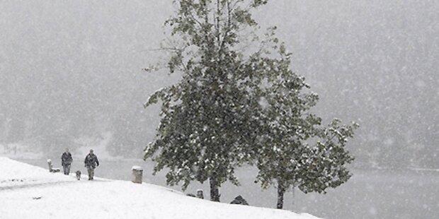 Jetzt wird's kalt - Erster Schnee fällt
