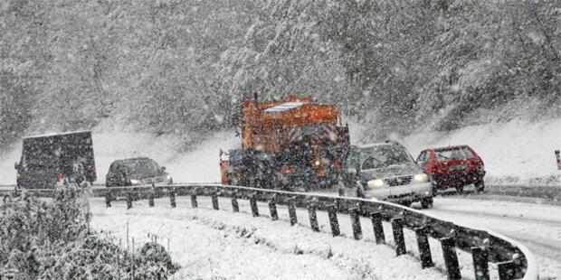 Schnee und Regen auch am Wochenende