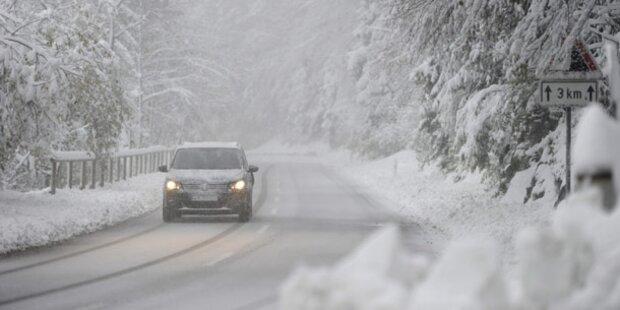 Autofahrer müssen sich auf Schnee einstellen