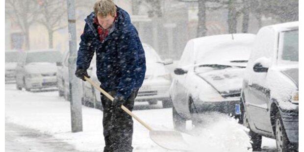 Kältefront bringt viel Schnee