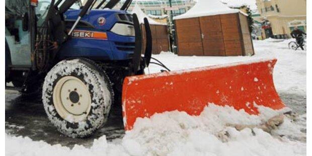 Ein Land versinkt im Schnee