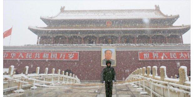 Peking ließ es künstlich schneien