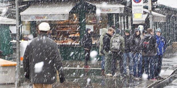 Am Freitag kommt Schnee bis nach Wien