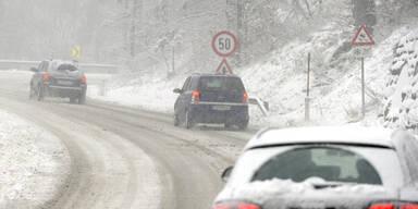 NÖ: Warnung vor Schneefahrbahnen