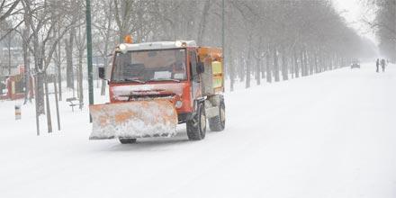 Schnee im Prater