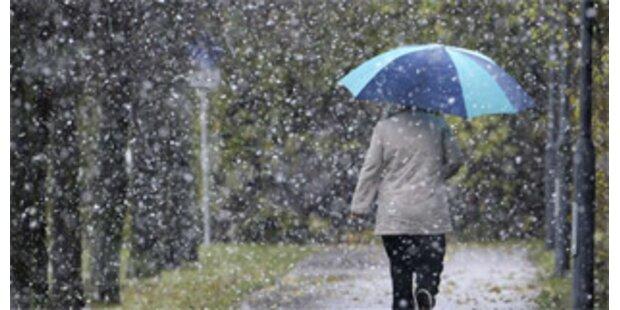 Starker Schneefall und Sintflut zugleich in Italien