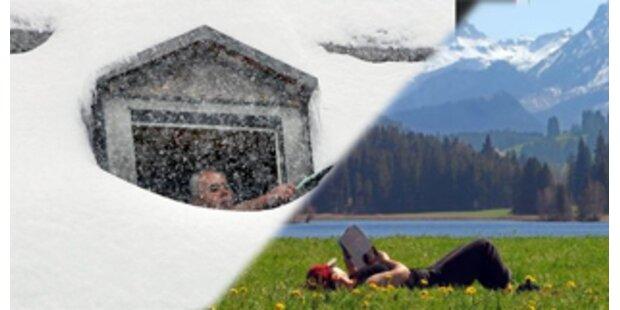 Frühling in Wien - Winter in Vorarlberg