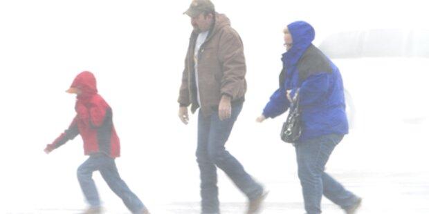 Schneesturm fegt über USA hinweg