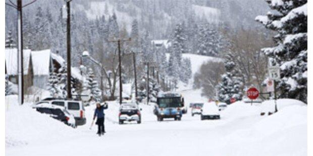Nach Schnee drohen den USA Überschwemmungen