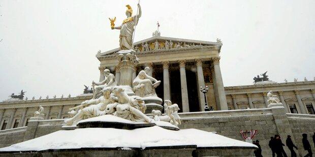 Am Montag kommt Schnee bis nach Wien