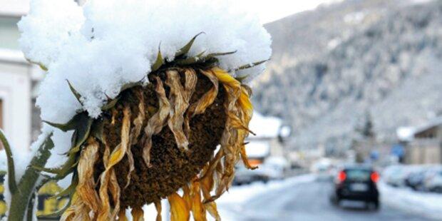 Kälteeinbruch in ganz Österreich