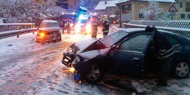Erster Schnee sorgte für Chaos