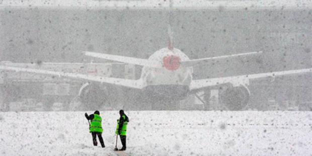 Schneechaos in Europa: Airports dicht