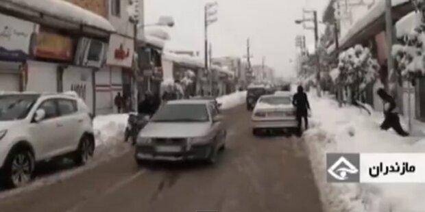 Schneefall verursacht Chaos im Iran
