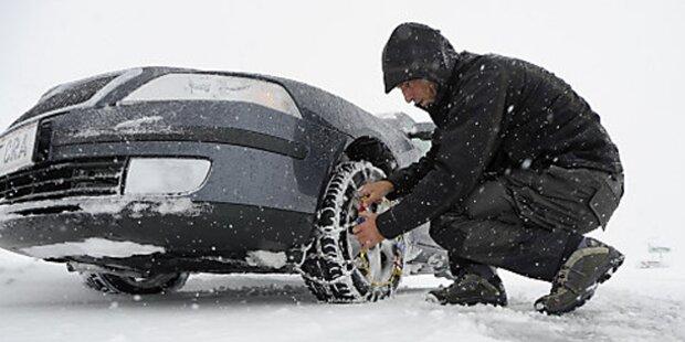 Schneefall sorgt für Probleme