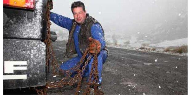 Schneekettenpflicht in Westösterreich