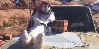 Schneemann in Saudi Arabien