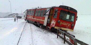 Zillertalbahn krachte in Schneepflug