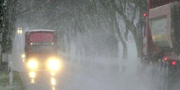 Erster Schneefall heute schon in Wien