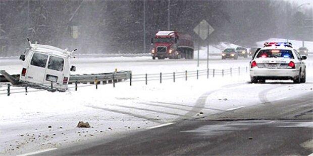 USA: Mindestens 15 Tote nach Schneesturm