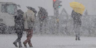 Starker Sturm und viel Schnee