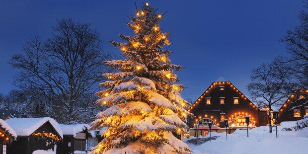 Schneefall eine Woche vor Weihnachten