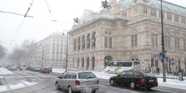 So viel Schnee gibt's in Wien