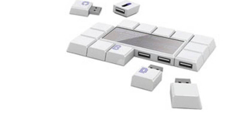 Externer USB-Speicher im Schokoladen-Look