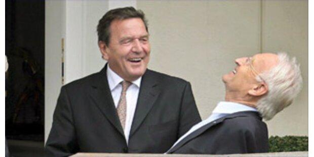 Stoiber lädt Schröder  zur Brotzeit ein