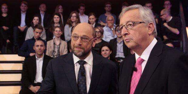Juncker vs. Schulz: TV-Duell um Europa
