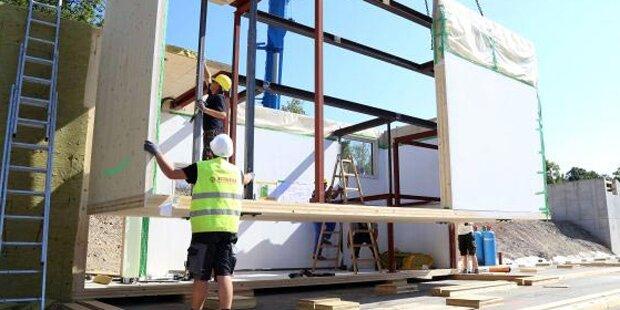 Neue Schulzubauten in moderner Holzbauweise