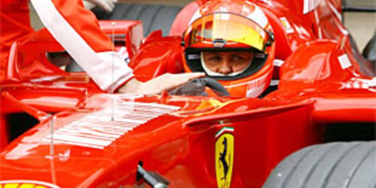 Schumacher fährt Bestzeit bei Testfahrten